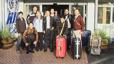 アイラ空港 記念撮影